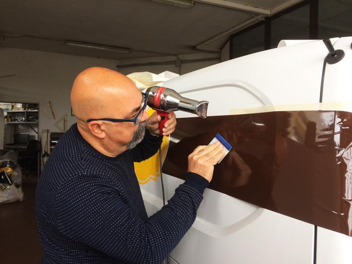 Giuliano Gamba, decorazione furgone