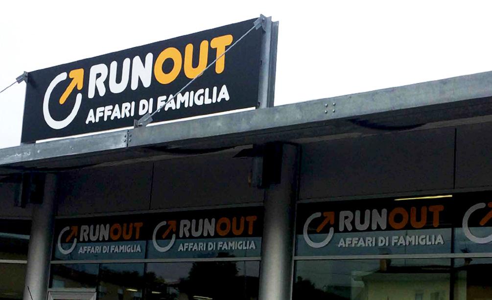 Realizzazione Insegna Runout